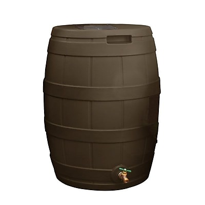 Good Ideas 50 Gallon Rain Wizard Rain Barrel, Oak 1241330