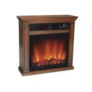 World Marketing Comfort Glow Ainsley Quartz Electric Fireplace, Vintage Oak