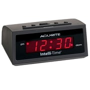 AcuRite® Chaney Instruments 13002A2 Intelli-Time Digital Alarm Clock, Black