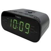 Timex T231 Dual Alarm AM/FM Clock Radio, Gunmetal