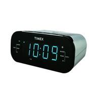 Timex T331 Dual Alarm AM/FM Clock Radio, Silver