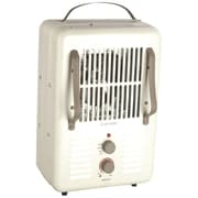 World Marketing Comfort Glow™ Milkhouse Electric Heater With 3-prong Grounded Cord, Cream/Chocolate