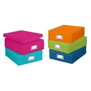 Whitmor Plastic Document Box Set, Assorted