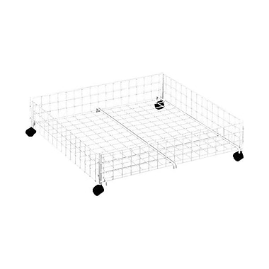 Whitmor Rolling Underbed Cart, White