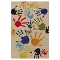 Momeni Lil' Mo Lil Mo Whimsy Ivory Finger Paint Kids Area Rug; 3' x 5'