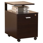 Hokku Designs 1-Drawer Modern Equipment Trolley/File Cabinet; Dark Espresso