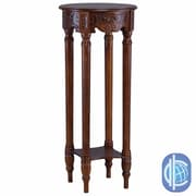 International Caravan Windsor Hand Carved 2-Tier Telephone Table