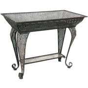 Oriental Furniture Wrought Iron Sundry Pedestal Plant Stand