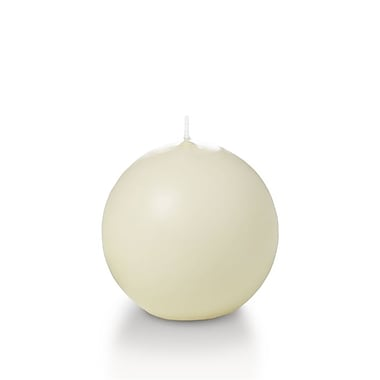 Yummi Sphere / Ball Candles, Ivory, 2.8