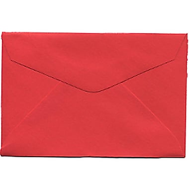 JAM Paper® 3drug Mini Small Envelopes, 2 5/16 x 3.63, Brite Hue Red Recycled, 100/Pack (155031A)