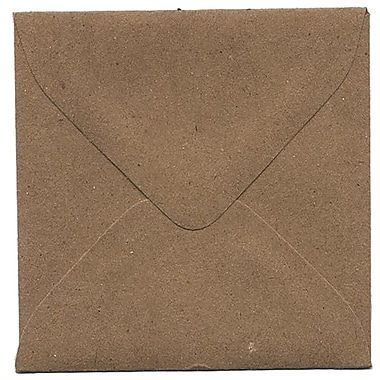 JAM Paper® 3.125 x 3.125 Mini Square Envelopes, Brown Kraft Paper Bag Recycled, 100/Pack (52797687A)