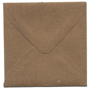 "Jam® 3 1/8"" x 3 1/8"" Square Recycled Paper Envelopes With Gum Closure, Brown Kraft"