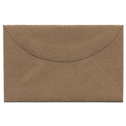 "Jam® 2 5/16"" x 3 5/8"" Booklet Recycled Paper Envelopes With Gum Closure, Brown Kraft"