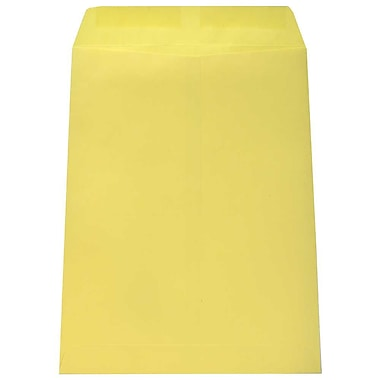 JAM Paper® 9 x 12 Open End Catalog Envelopes, Canary Yellow, 100/Pack (12827545C)