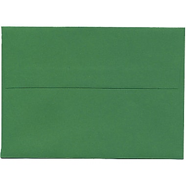 JAM Paper® 4bar A1 Envelopes, 3.63 x 5 1/8, Brite Hue Christmas Green Recycled, 250/Pack (15811C)