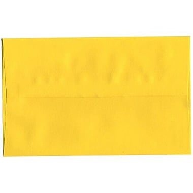 JAM Paper® 4bar A1 Envelopes, 3.63 x 5 1/8, Yellow, 1000/Pack (21514992B)