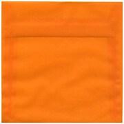 Jam 6 1/2 x 6 1/2 Square Translucent Paper Envelopes With Gum Closure, Orange, 25/Pack