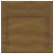 Jam® 6 1/2 x 6 1/2 Square Translucent Paper Envelopes With Gum Closure, Earth Brown, 25/Pack