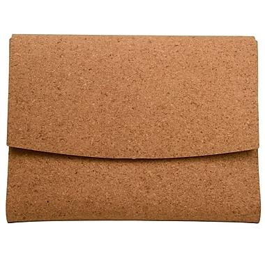 JAM Paper® Italian Leather Portfolio With Snap Closure, 10.5 x 13 x 0.75, Cork, Sold Individually (233327625)