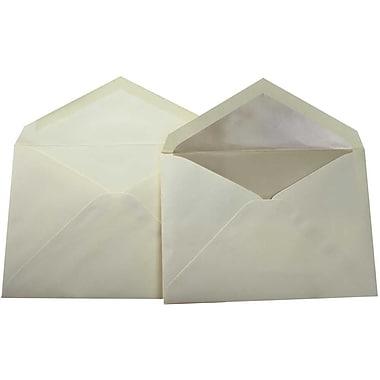 JamMD – Paquet d'enveloppes doublées format livret pour mariage, écru et perle, 5 3/4 x 8 po, 100/paq