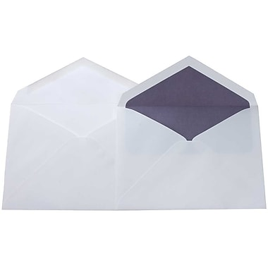 JAM Paper® Lined Wedding Envelope Set, 5.75 x 8, White with Orchid Purple Lined Envelopes, 100/Pack (526SE6430)
