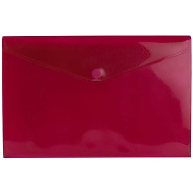 JAM Paper® Plastic Envelopes with VELCRO® Brand Closure, Letter Booklet, 9.75 x 13, Red Poly, 12/Pack (235827787)