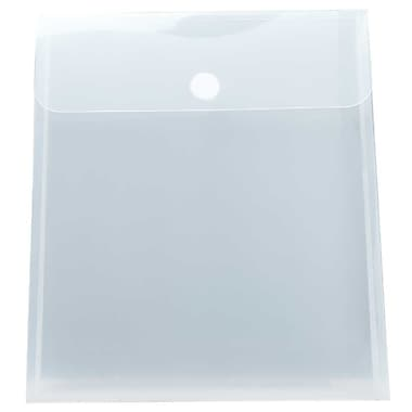 JAM Paper® Plastic Envelopes with VELCRO® Brand Closure, 1 Expansion, 9.75 x 11.5, Clear Poly, 24/pack (235827606g)