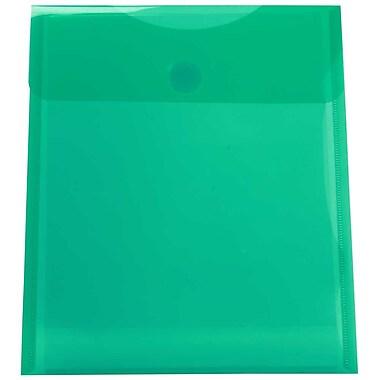 JAM PaperMD – Enveloppes en plastique format lettre à ouverture au sommet et fermeture VELCROMD, vert, 9 3/4 x 11 1/2 po, 24/p.