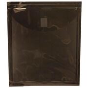 "Jam® 9 5/8"" x 11 1/2"" Open End Plastic Envelopes With Velcro Closure, Black"