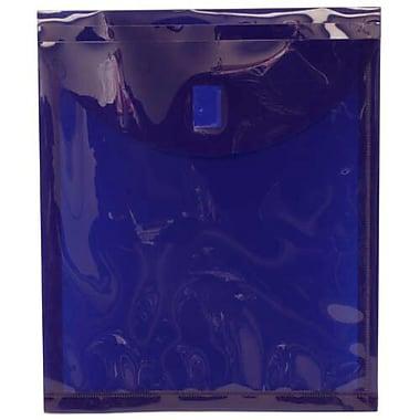 JamMD – Enveloppes-pochettes en plastique à fermeture velcro, 9 5/8 x 11 1/2 po, bleu foncé