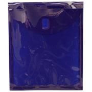 "Jam® 9 5/8"" x 11 1/2"" Open End Plastic Envelopes With Velcro Closure, Dark Blue"