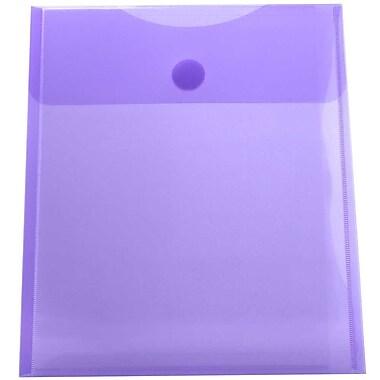 JAM PaperMD – Enveloppes en plastique format lettre à ouverture au sommet et fermeture VELCROMD, rouge, 9 3/4 x 11 1/2 po, 24/p.