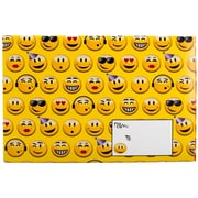 "Jam® 8 1/2"" x 12 1/4"" Open End Decorative Padded Bubble Envelopes, Festive Smiles, 6/Pack"