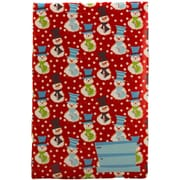 "JAM Paper® 8 1/2"" x 12 1/4"" Open End Decorative Bubble Padded Envelopes, Christmas Snowmen, 6/Pack"