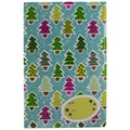 Jam® 8 1/2in. x 12 1/4in. Open End Bubble Wrap Padded Envelopes, Colorful Christmas Trees, 6/Pack