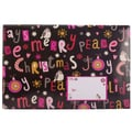 Jam® 6in. x 10in. Open End Bubble Wrap Padded Envelopes, Peace & Joy Christmas, 6/Pack