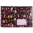 """Jam® 10 1/2"""" x 16"""" Open End Bubble Padded Envelopes, Colorful Christmas Trees, 6/Pack"""