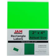 Jam® Paper 2 x 4 Address Label, Neon Green, 10 Labels per Page, 120/Pack