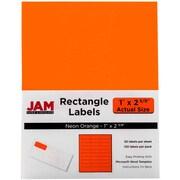 Jam® Paper 1 x 2 5/8 Address Label, Neon Orange, 30 Labels per Page, 120/Pack