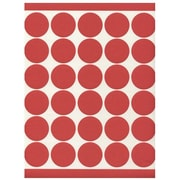 Jam® Paper 1 1/2 Circle Label Sticker Seal, Red, 120/Pack