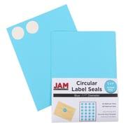 Jam® Paper 1 1/2 Circle Label Sticker Seal, Blue, 24 Labels per Page, 120/Pack