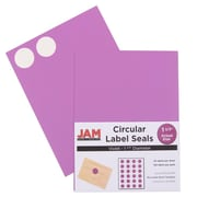 Jam® Paper 1 1/2 Circle Label Sticker Seal, Violet, 24 Labels per Page, 120/Pack
