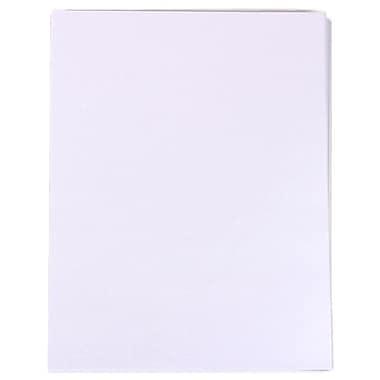 JAM Paper® Metallic Paper, 8.5 x 11, 80lb Stardream Crystal White, 100/Pack (173SD8511CR120)