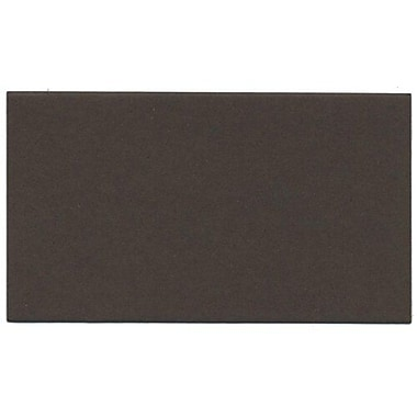 JAM Paper® Blank Note Cards, 3drug size, 2 x 3.5, Chocolate Brown, 500/Pack (117512694B)