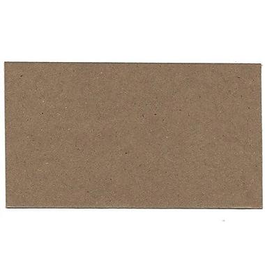 JAM Paper® Blank Note Cards, 3drug size, 2 x 3.5, Brown Kraft, 500/Pack (217512693B)