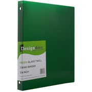 Jam® Designders® Glass Twill 0.75 Three Ring Binder, Green