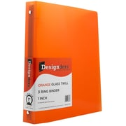 JAM Paper® Plastic 3 Ring Binder, 1 Inch, Orange, Sold Individually (751T1OR)