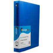 JAM Paper® Plastic 3 Ring Binder, 1 Inch, Blue, Sold Individually (751T1BU)