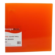 Jam® Designders® Glass Twill 2 Three Ring Binder, Orange