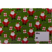 JAM Paper® Mailing Gift Box With Safety Lock, Large, 12 1/4 x 3 x 17 5/8, Green Santa Christmas, 6/Pack (SS47LDB)